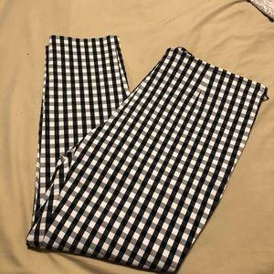 Black & White Plaid Ankle Pants-NWOT!